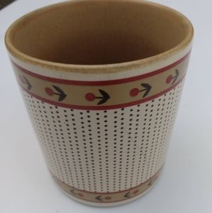 Vintage RARE MCM cup tan with floral band